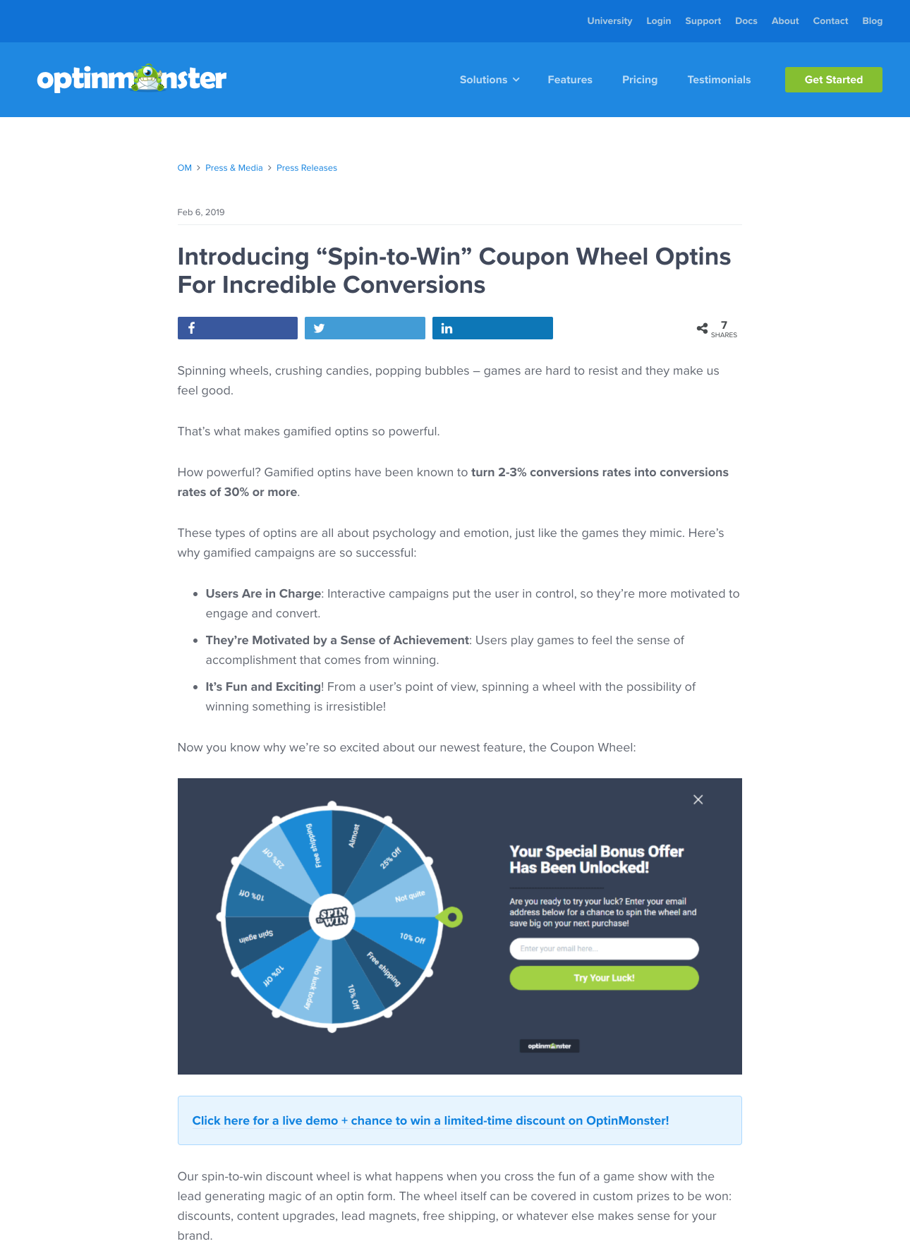 Introducing Spin to Win Coupon Wheel Optins