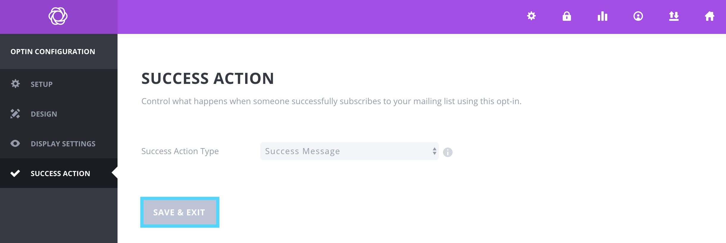 BloomプラグインでSuccess Actionを設定する方法 Seccess Messageを表示するパターン