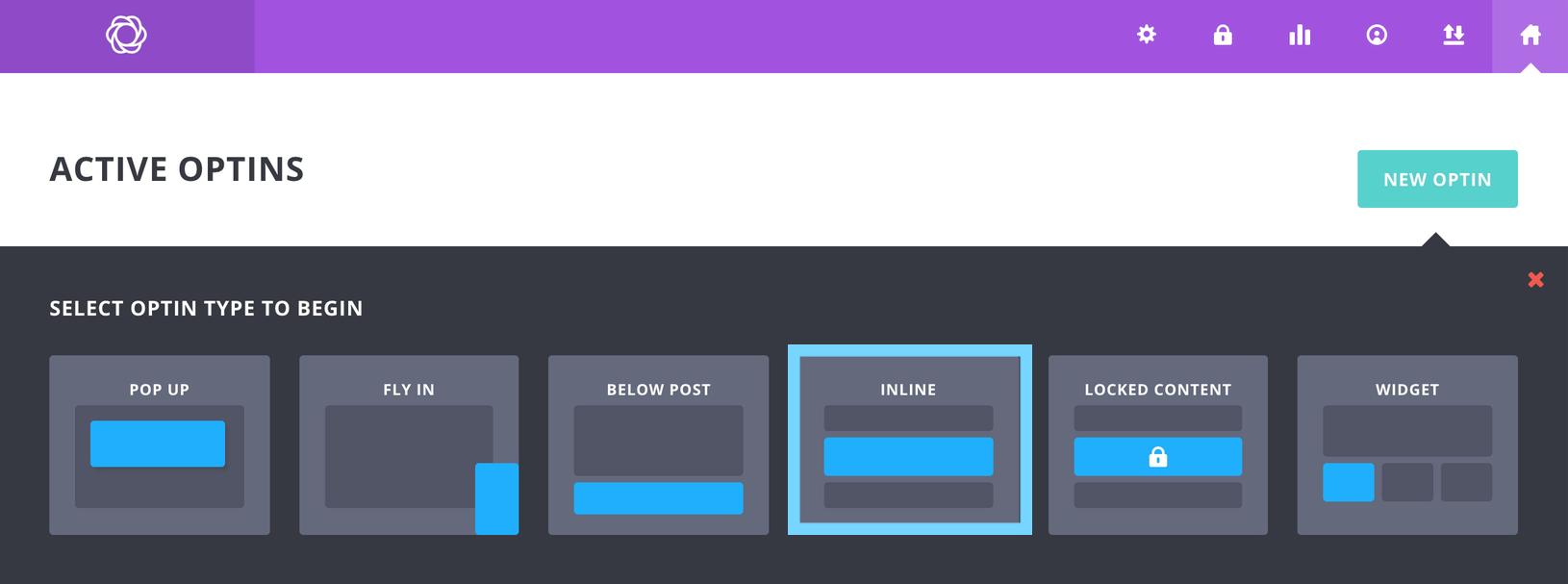 BloomプラグインのINLINEオプトインフォーム