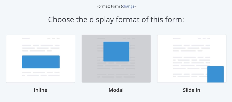 ConvertKitでFormのタイプを選択する