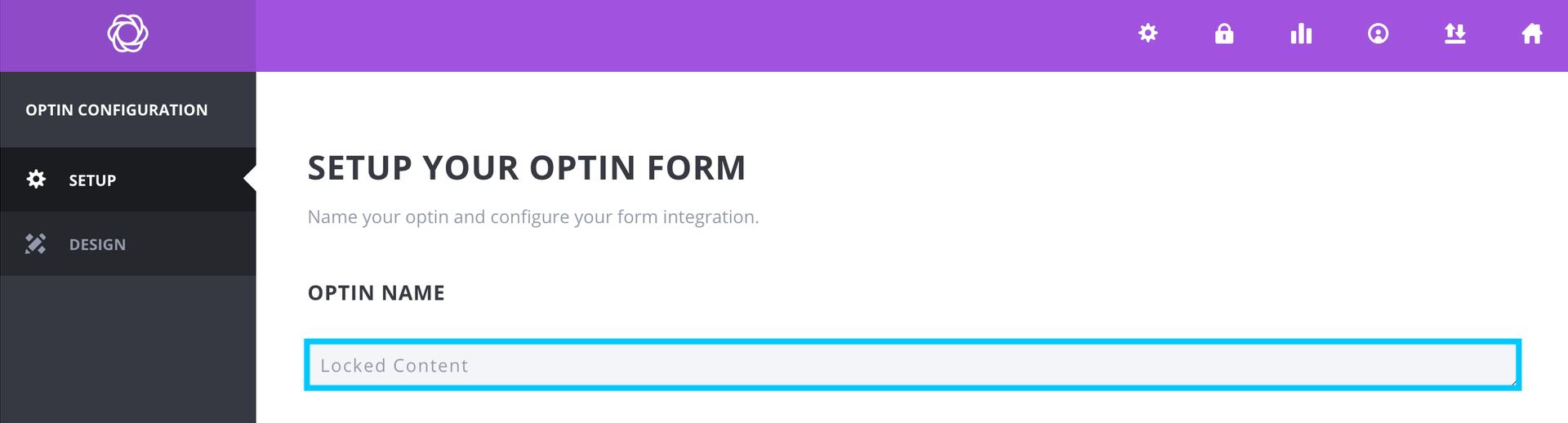 BloomプラグインLocked Contentのオプトインフォームに名前をつける