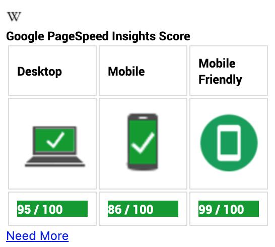 Google PageSpeed Insights 拡張機能