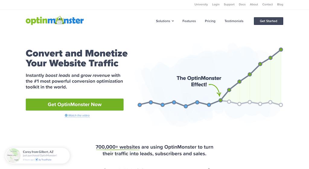 OptinMonster ポップアップ