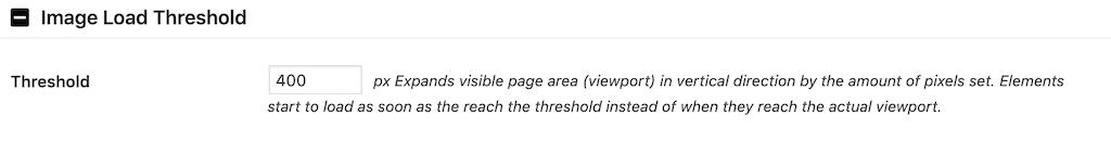 a3 Lazy LoadのImage Load Thresholdの設定