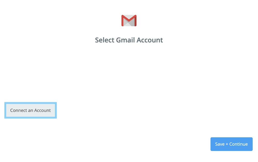 「Connect an Account」ボタンをクリックする