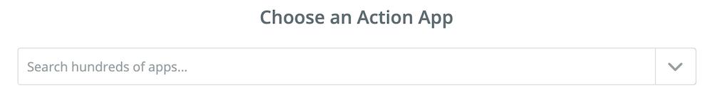 Actionステップを選択する