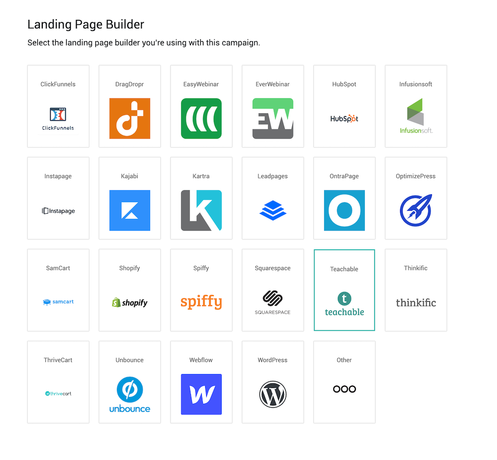 Deadline Funnel Settings Landing Page Builder