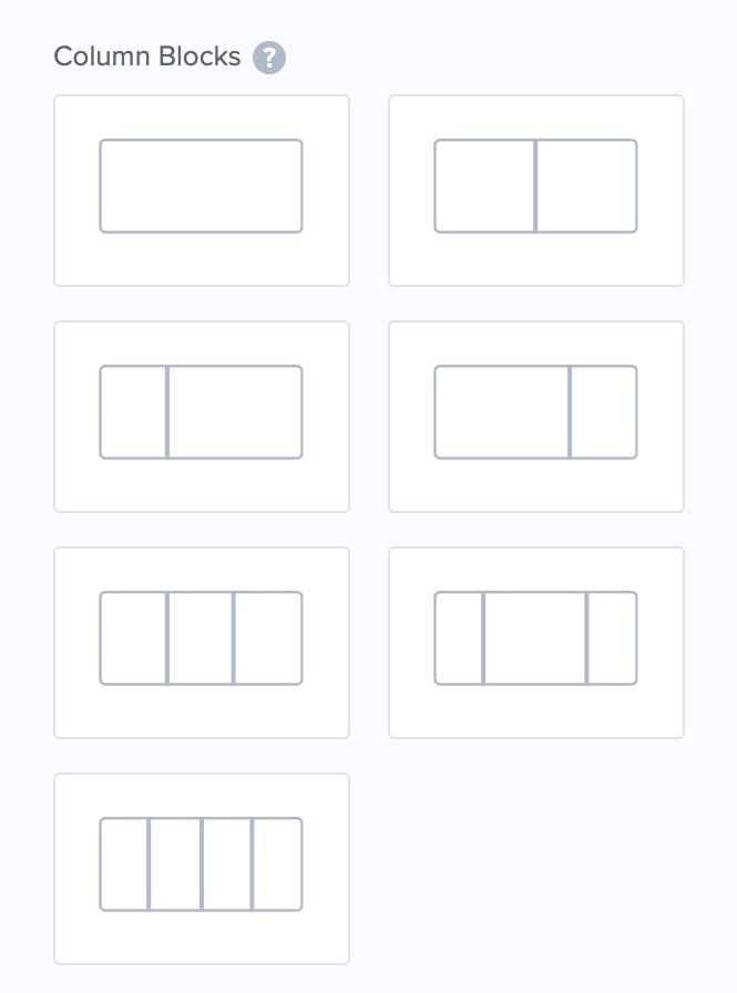 OptinMonsterのColumn Blocks