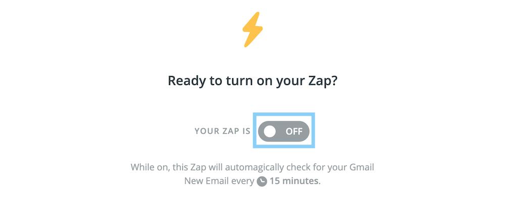 Zapをオンにする