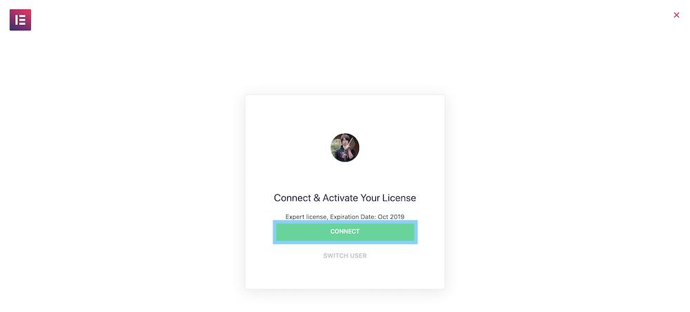 Elementor Proのアカウントと自動で連携する
