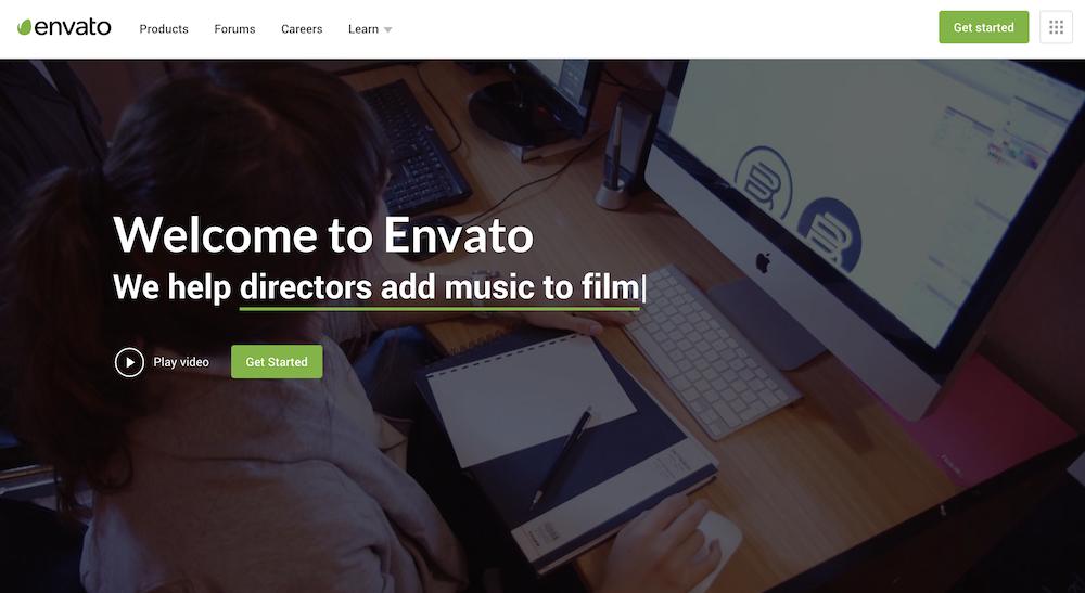 Envato Elements トップページ