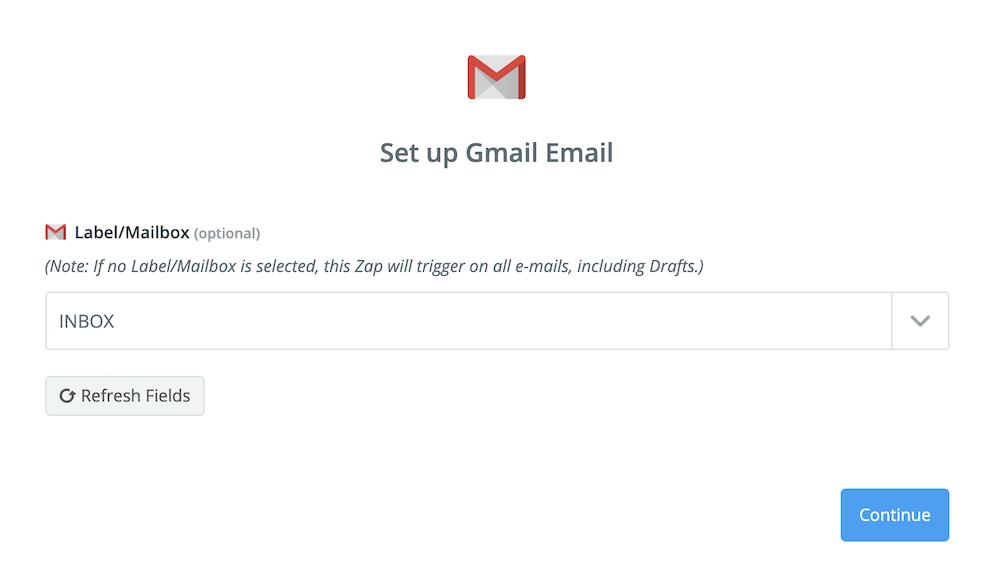 Gmailのメールボックスを選択する