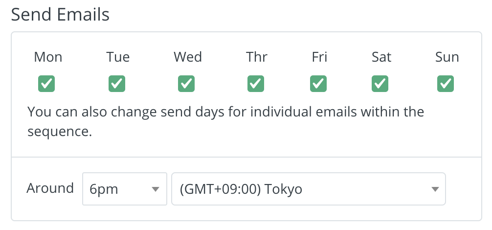 ConvertKitでステップメールを送信する曜日・時間帯を設定する