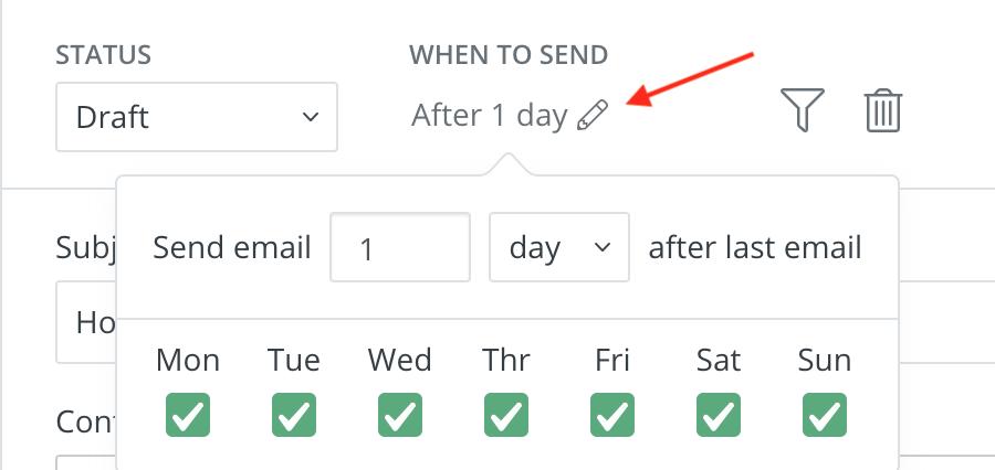 ConvertKitで作成したメールの送信日・時間帯を設定する