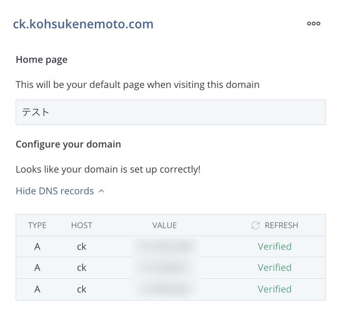 DNSレコードの表示