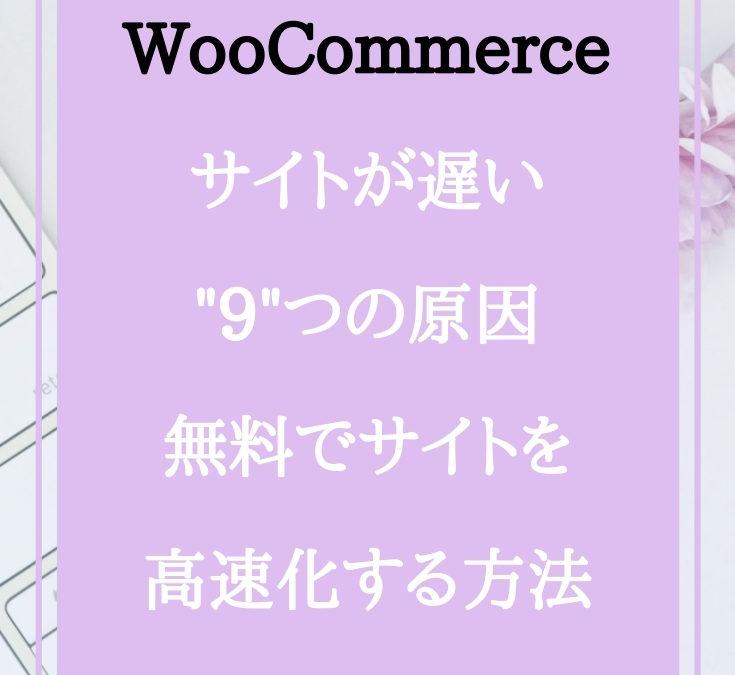 WooCommerceサイトが遅い9つの原因:無料でサイトを高速化する方法