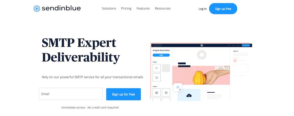 Sendinblueの公式サイト