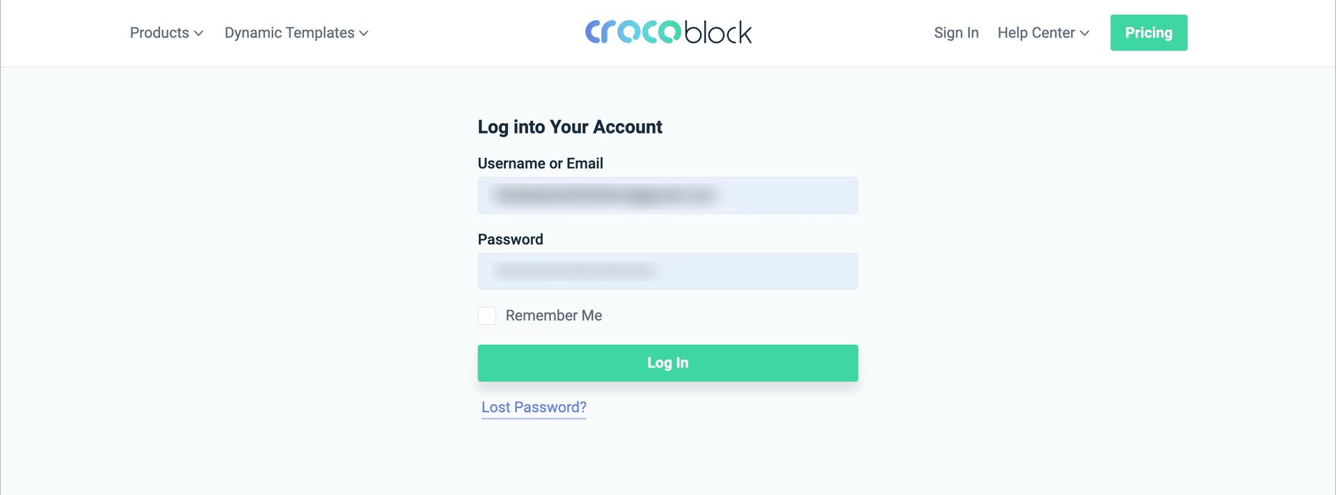 Crocoblockの会員サイトにログイン