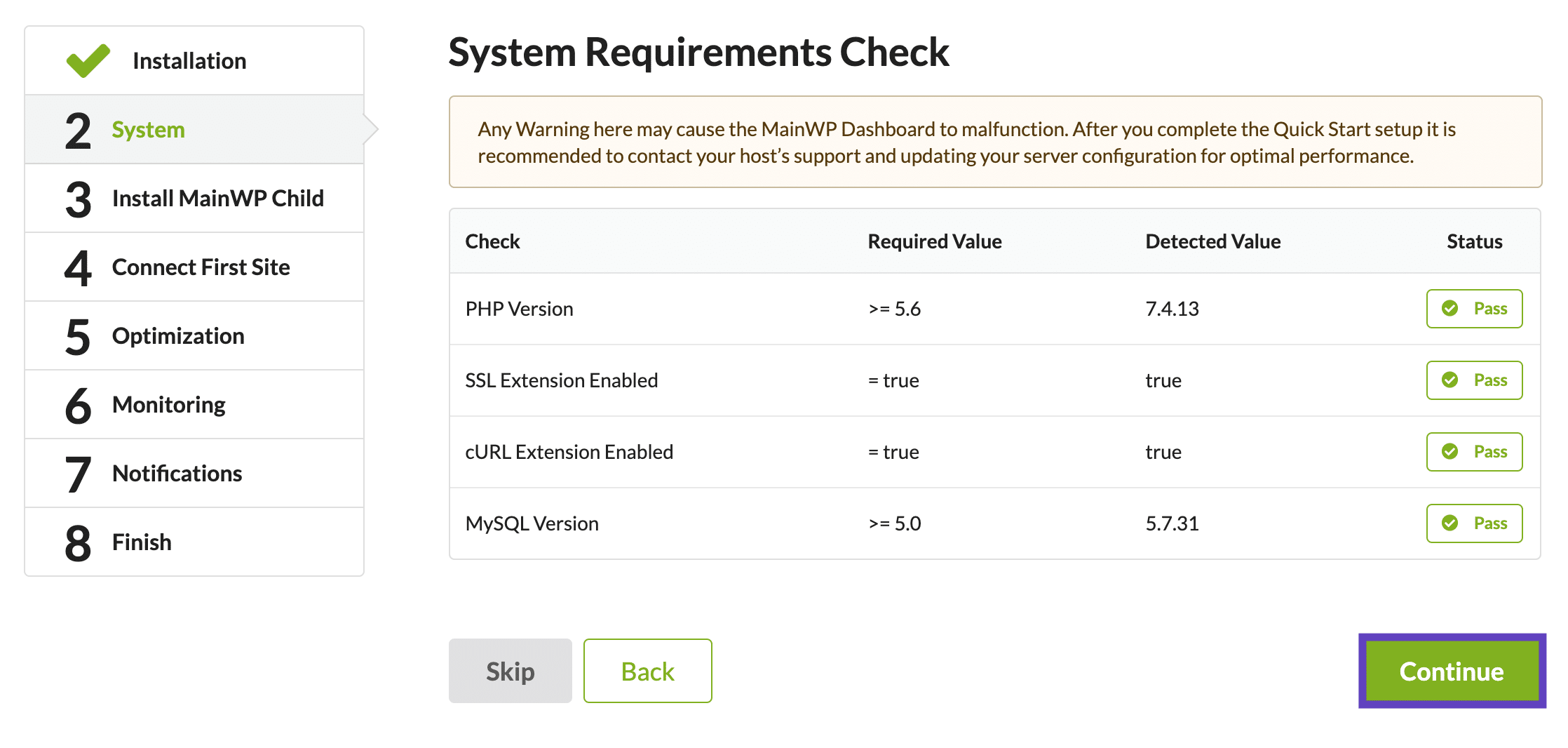 System Requirements Check