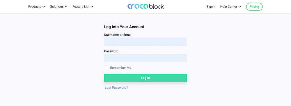 Crocoblock JetEngine ログインページ