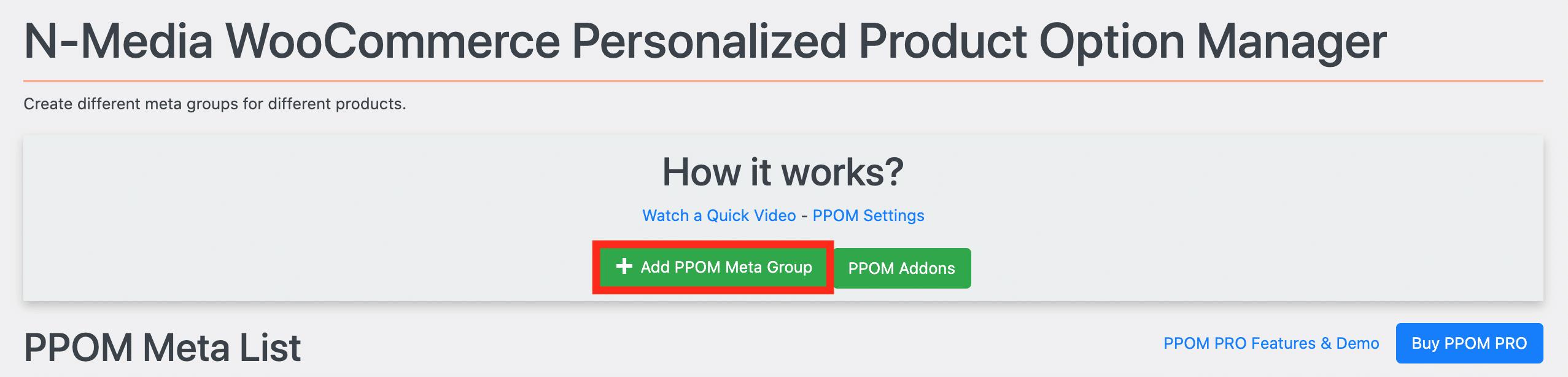 PPOMで Add PPOM Meta Group