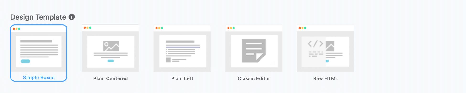 FluentCRMのDesign Template