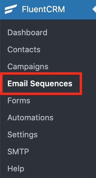 FluentCRMのEmail Sequences
