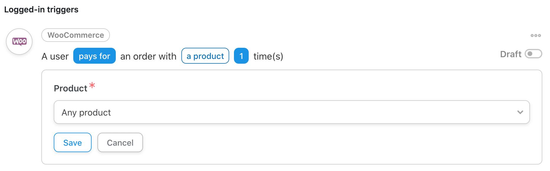 Uncanny Automatorで商品の選択